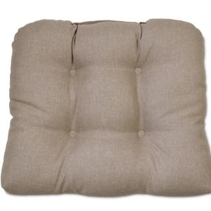 Other - Tufted Outdoor Seat Cushion Taupe Brown Natural